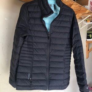 Packable down puffer jacket